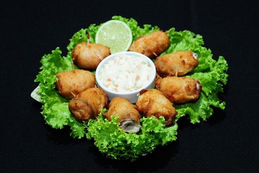 Atatakai: Filé de peixe recheado com presunto e queijo