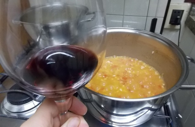 risoto iscas filé tomate e rucula
