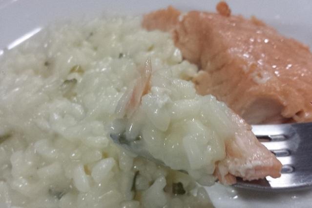 Salmão e risoto de limao