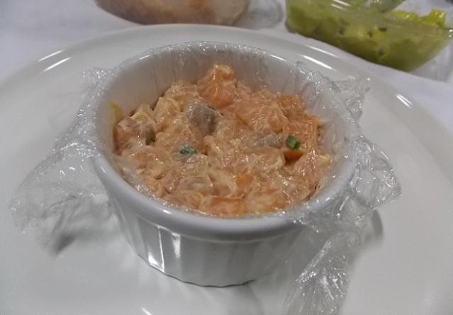 tartare de salmão e abacate